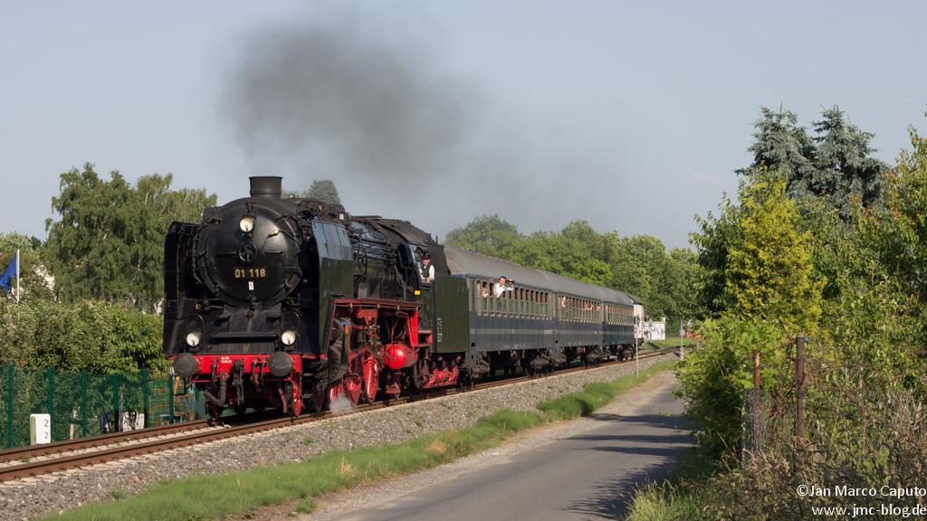 01 118 auf der Fahrt nach Königstein